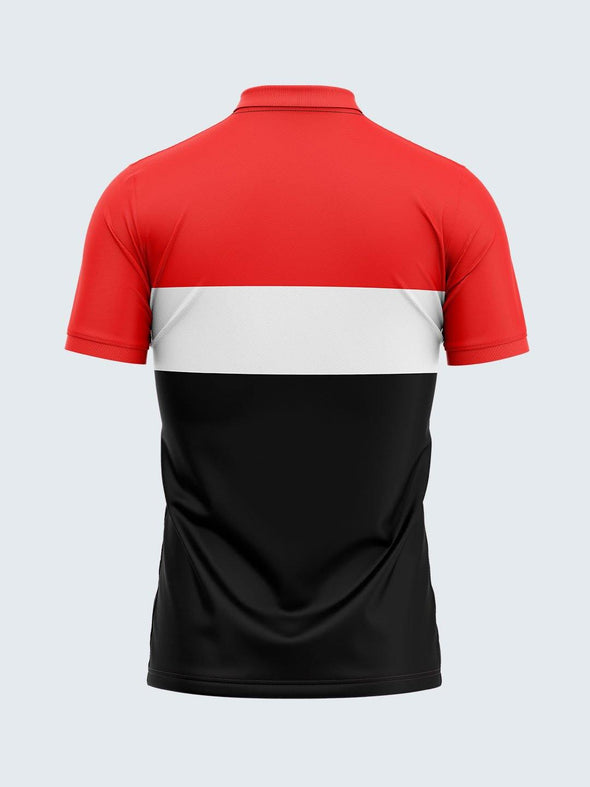 Men Red & Black Polo T-shirt-1794RD - Sportsqvest