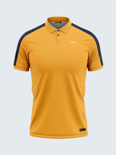 Men Yellow & Blue Polo T-shirt-1796YW