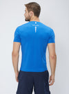 Men Blue Stretch Solid Round Neck Premium T-shirt-A10026BL