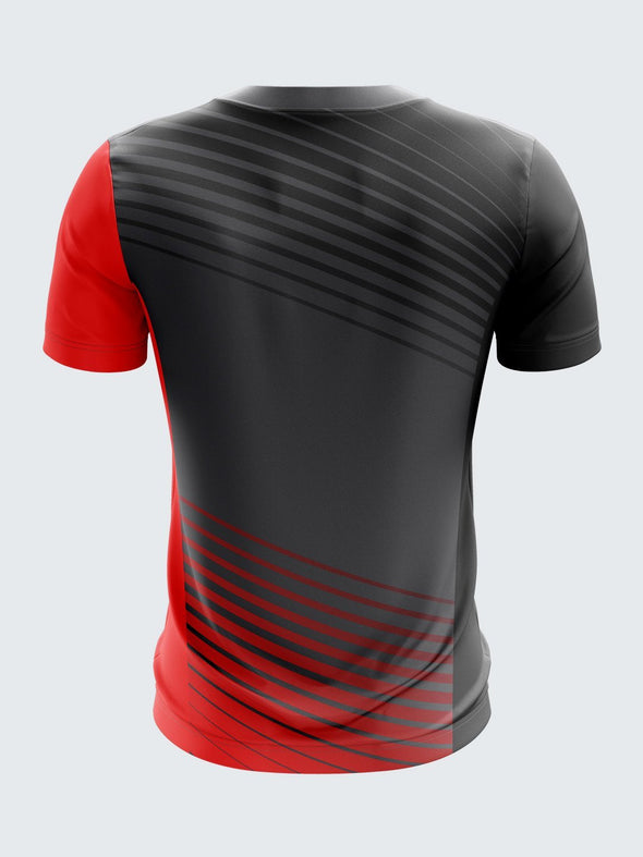 Men Black Printed Round Neck Football Jersey-1391BK |Sportsqvest