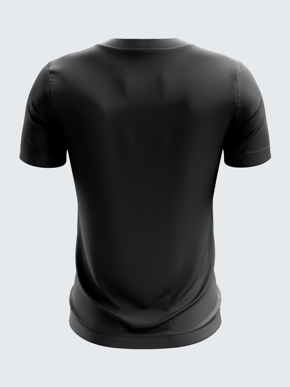Men Black Printed T-shirt Sportsqvest