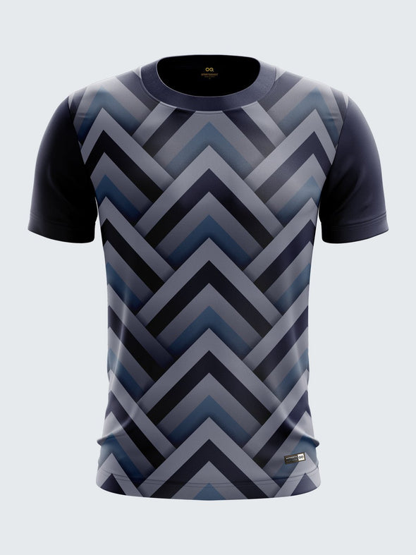Men Blue Printed T-shirt Sportsqvest