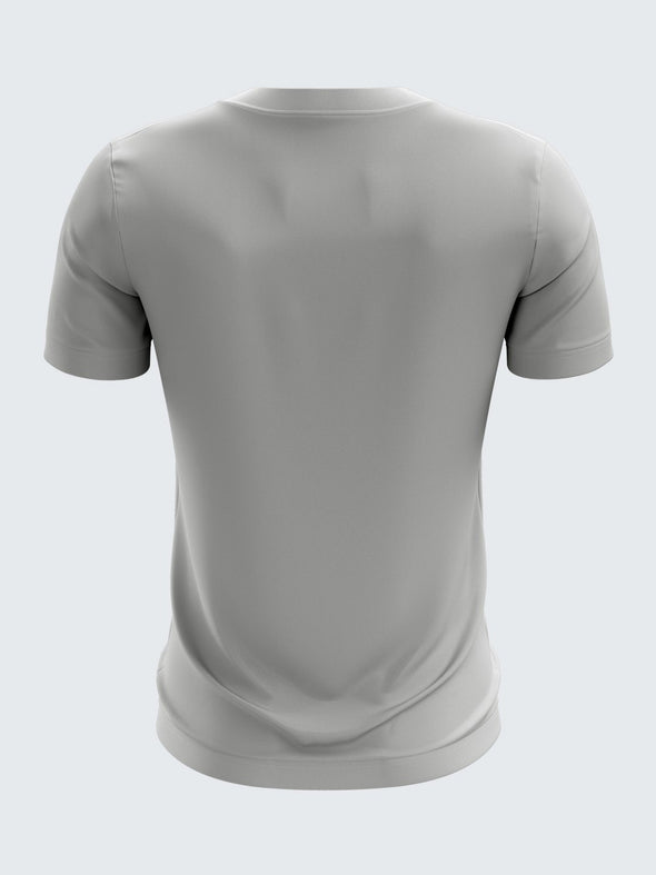 Men Grey Printed Round Neck Football Jersey-1346GYSportsqvest