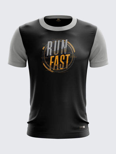 Men Grey Printed T-shirt Sportsqvest