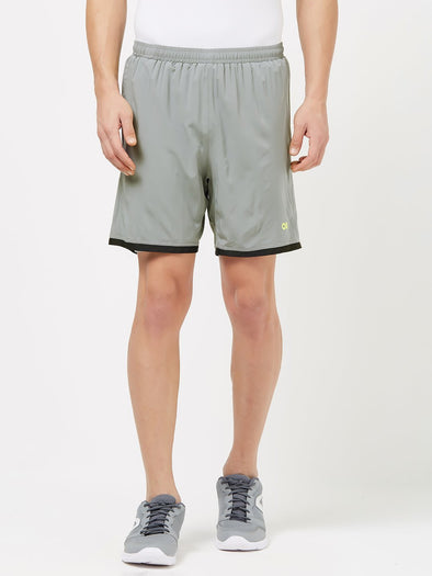 Men Black Solid Sports Shorts-A10074BK Sportsqvest