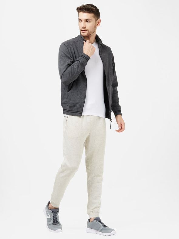Men Grey Sweatshirt Jacket-A10088GY