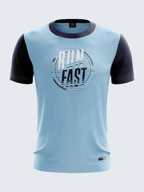 Men Light Blue Printed T-shirt Sportsqvest
