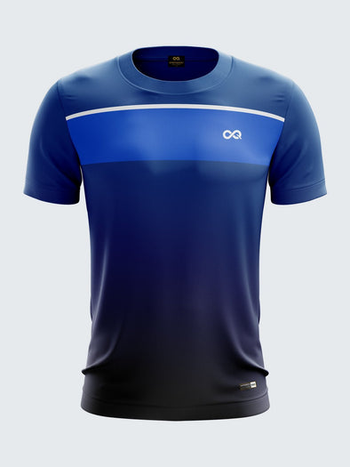 Men Navy Blue Printed Round Neck Handball Jersey-1371NB |Sportsqvest