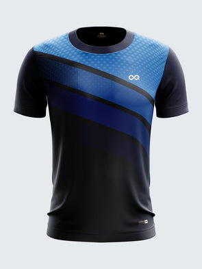 Men Navy Blue Printed Round Neck Hockey Jersey-1372NB |Sportsqvest