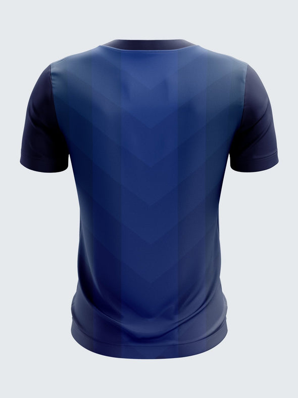 Men Navy Blue Printed Round Neck T-shirt-1377NB |Sportsqvest