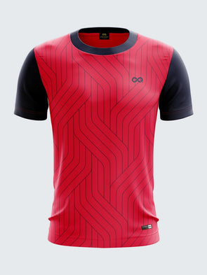 Men Navy Blue Printed Roung Neck Cricket Jersey-1336NB Sportsqvest