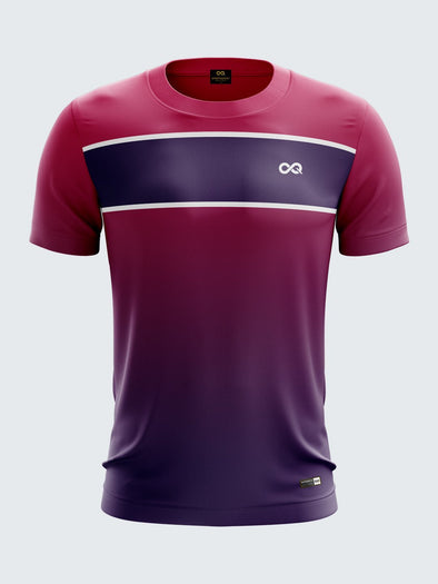 Men Pink Printed Round Neck Football Jersey Sportsqvest