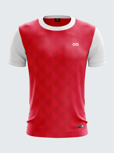 Men Pink Printed Football Jersey Sportsqvest