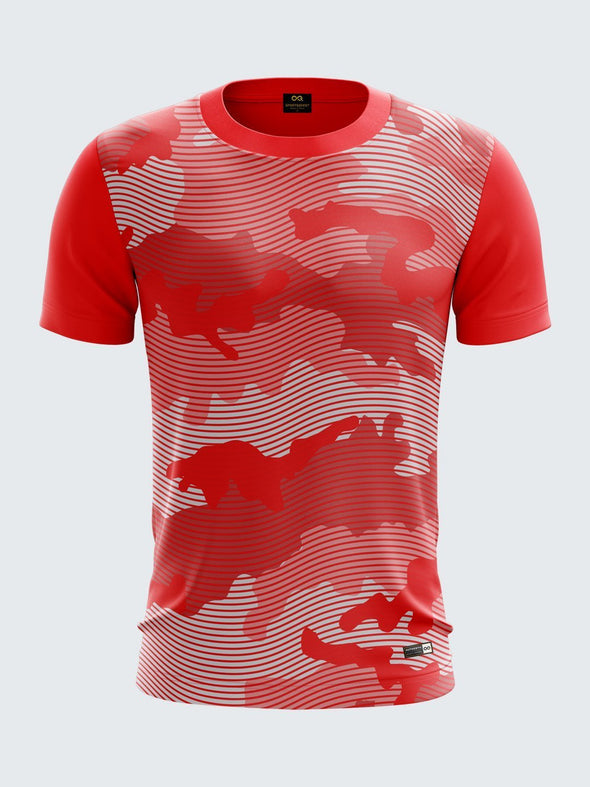 Men Red Camouflage T-shirt Sportsqvest
