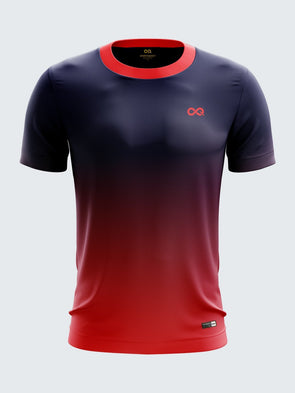 Men Red Printed T-shirt Sportsqvest