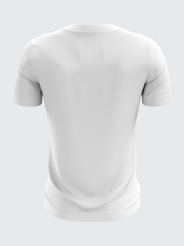 Men White Printed Round Neck Cricket Jersey-1336WHSportsqvest