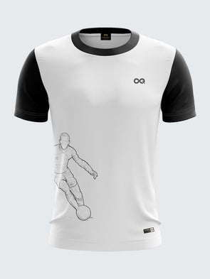 Men White Printed Round Neck Football Jersey-1339WHSportsqvest