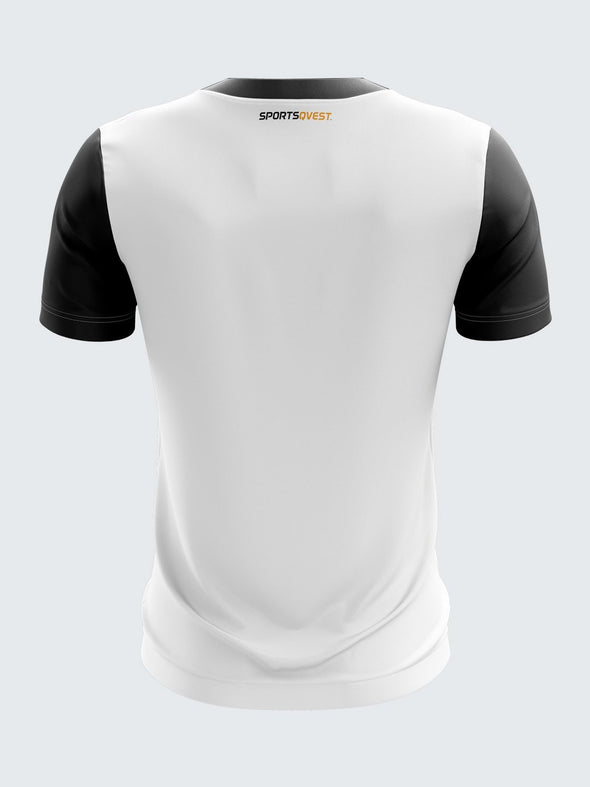 Men White Printed Round Neck T-shirt-1376WH |Sportsqvest