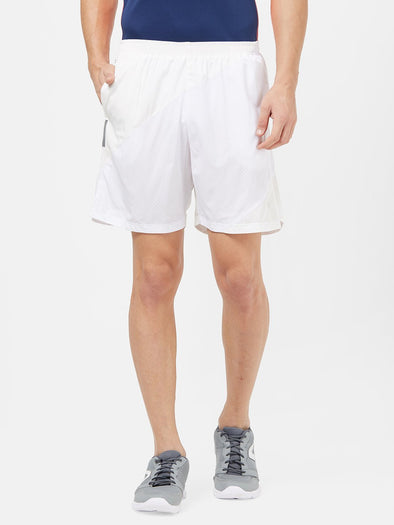 Men White Solid Sports Shorts-A10097WH Sportsqvest