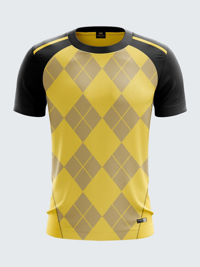 Men Yellow Printed T-shirt Sportsqvest