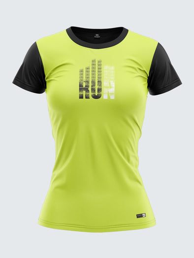 Women Light Green Printed Round Neck Graphic T-shirt Sportsqvest