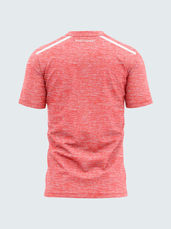 Men Pink Self Design Round Neck Premium T-shirt-A10069PK