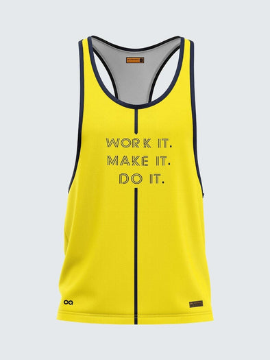 Men Racerback Yellow Vest-1659YW