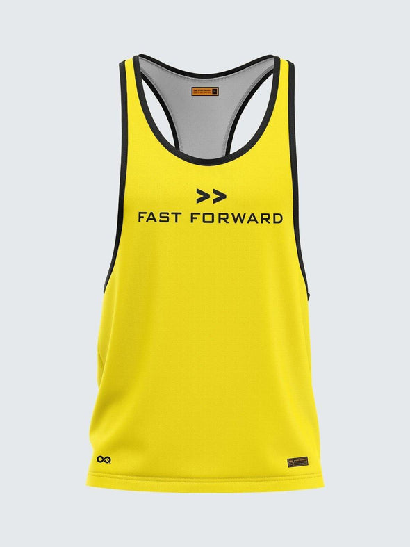 Men Racerback Yellow Vest-1662YW