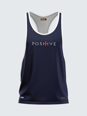 Men Racerback Navy Blue Vest-1664NB
