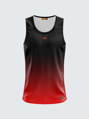 Men Singlet Red Printed Tank Top-1776RD