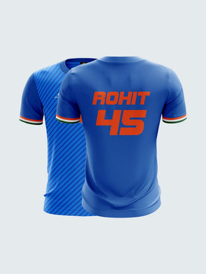 T20 India Blue Concept Rohit Sharma  Fan Jersey-IN1040