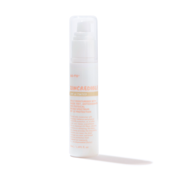 Zincredbile, tinted moisturiser with SPF, Go-To Skin Care