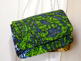 Green Ankara Mini Messenger Bag