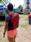 Ankara/African Print and Vinyl Leather Backpack