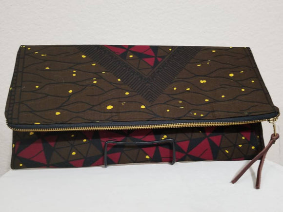 Ankara Fold-over Clutch