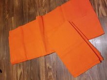 Plain Orange Asoke Gele, outfit, nigerian wedding, bride outfit, head the, headwrap.