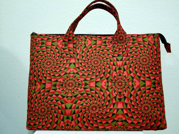 African Print Ankara Travel Bag, large tote, multicolor bag, travel size, oversize bag, work bag, laptop fit.