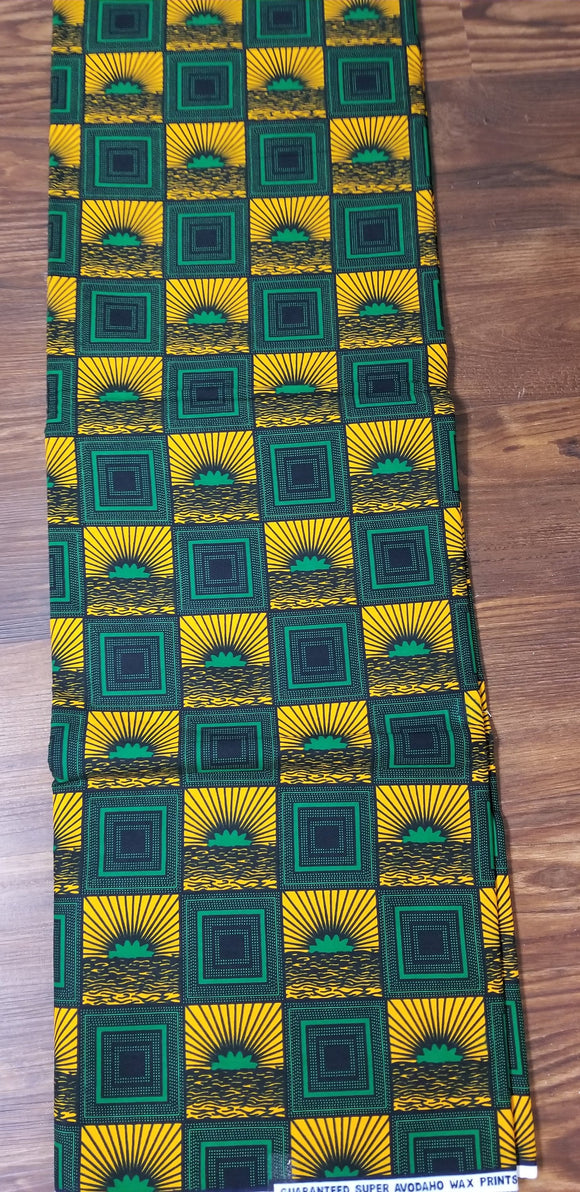 Elegant ankara Fabric, Multicolor ankara, yellow, green, black, ankara,sewing, wall art, African fabric, Nigerian print, wax.