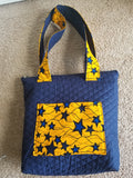 African Print Ankara quilted Tote Bag