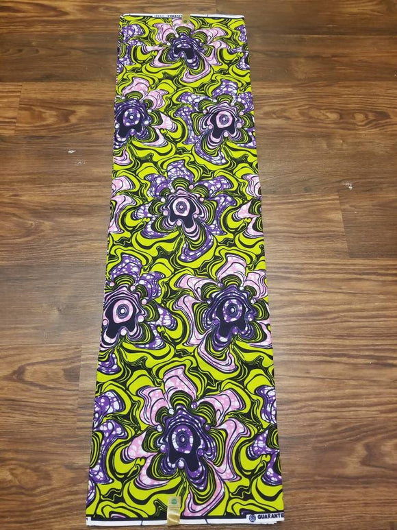 Lime/Blue/Purple Ankara Fabric, Multicolor ankara, pink, maroon, ankara,sewing, wall art, African fabric, Nigerian print, wax.