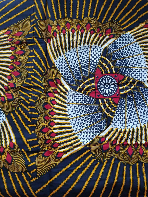 Ankara Fabric, Multicolor ankara, red,  navy blue,  white, brown, yellow ankara,sewing, wall art, African fabric, Nigerian print, wax.
