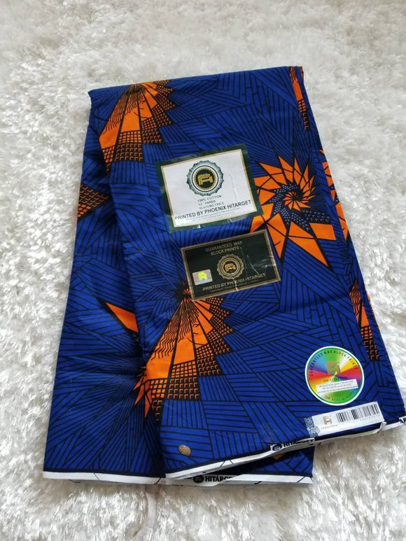 Ankara Fabric, Multicolor ankara, blue, black, orange, ankara,sewing, wall art, African fabric, Nigerian print, wax.