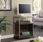 Convenience Concepts Designs2Go TV Stand with Black Glass Cabinet 365