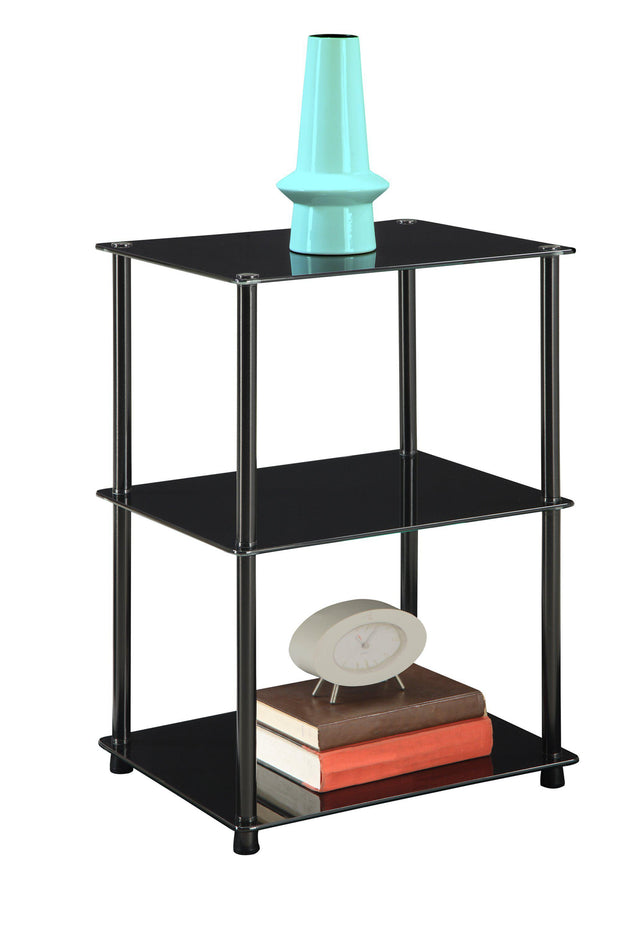 Convenience Concepts Designs2Go Classic Glass 3 Tier Lamp / End Table  13