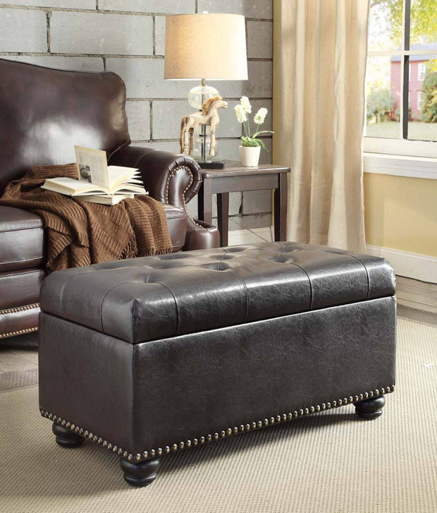 Convenience Concepts Designs4Comfort 7th Avenue Storage Ottoman 655