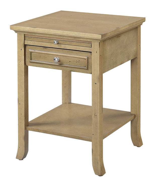 Convenience Concepts American Heritage Logan End Table with Drawer and Slide 512