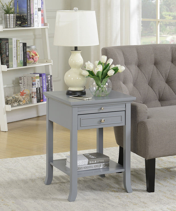 Convenience Concepts American Heritage Logan End Table with Drawer and Slide 549