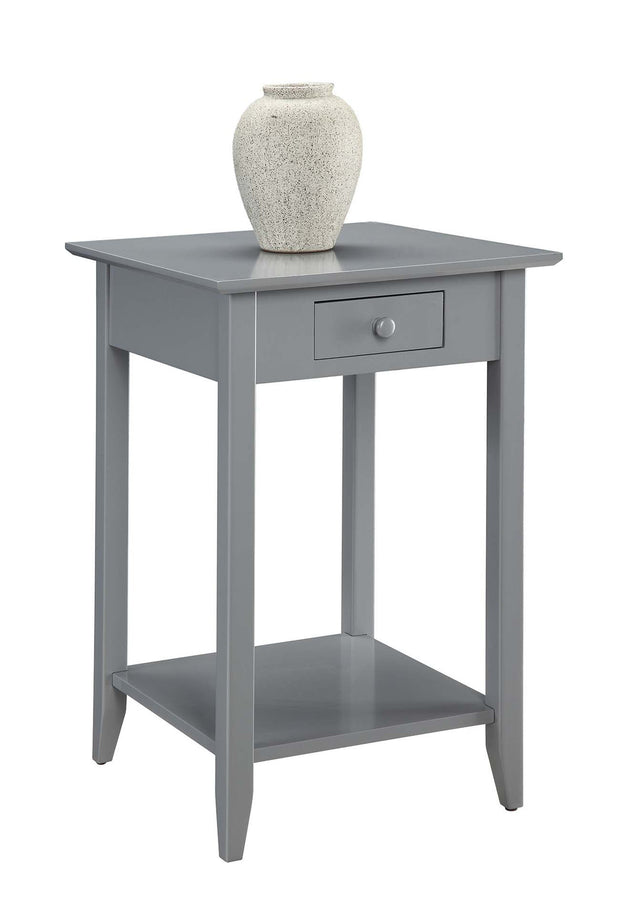 Convenience Concepts American Heritage End Table with Drawer and Shelf  471