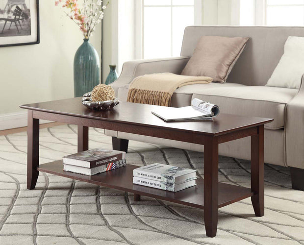 Convenience Concepts American Heritage Coffee Table with Shelf  417