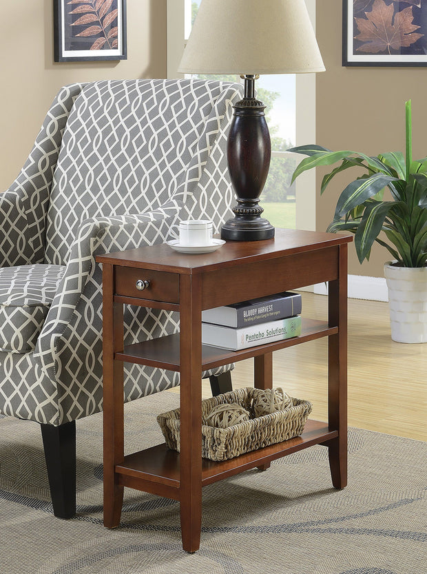 Convenience Concepts American Heritage Three Tier End Table with Drawer 497